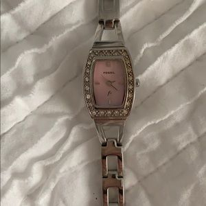 Fossil Stainless Steel Watch with Crystals